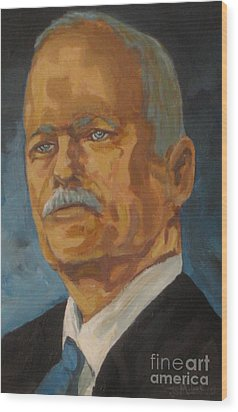 The Late Honorable Jack Layton Wood Print by John Malone