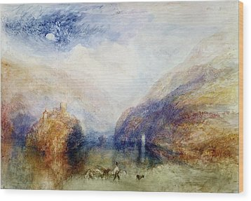 The Lauerzersee With The Mythens Wood Print by Joseph Mallord William Turner