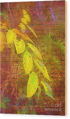 The Leaves Of Yesteryear Wood Print by Judi Bagwell