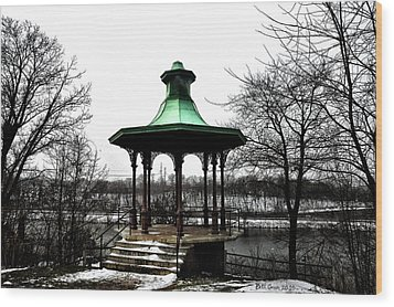 The Lemon Hill Gazebo - Philadelphia Wood Print by Bill Cannon
