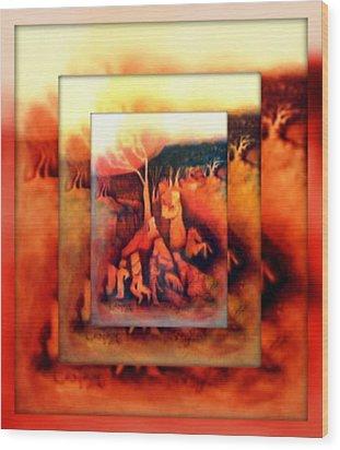 The Letter 2 Wood Print by Joan Kamaru