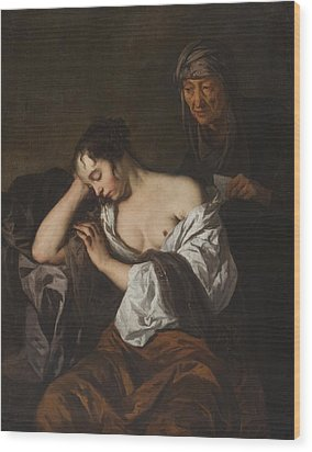 The Letter Wood Print by Sir Peter Lely