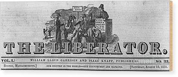 The Liberator Masthead Wood Print by Photo Researchers