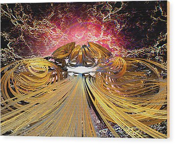 The Light At The End Of The Tunnel Wood Print by Michael Durst