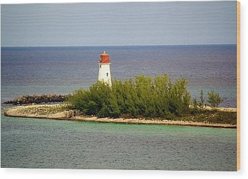 The Light House Wood Print by Paulette Thomas