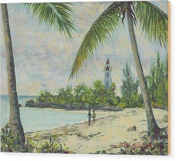The Lighthouse - Zanzibar Wood Print by Tilly Willis