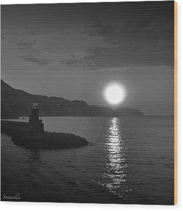 The Lighthouse Wood Print by Gianluca Sommella