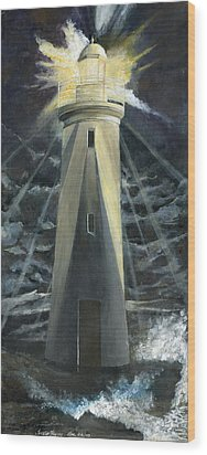 The Lighthouse Wood Print by Trister Hosang
