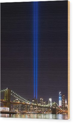 The Lights - 9-11 Tribute Wood Print by Shane Psaltis