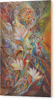 The Lilies And Bell Flowers Wood Print by Elena Kotliarker