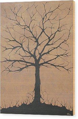 the Lindsey Tree Wood Print by Julia Raddatz