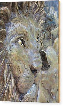 The Lions Wood Print