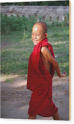 The Little Monk Of Mingun Wood Print by RicardMN Photography