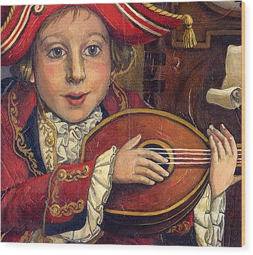 The Little Mozart.detail. Wood Print by Victoria Francisco