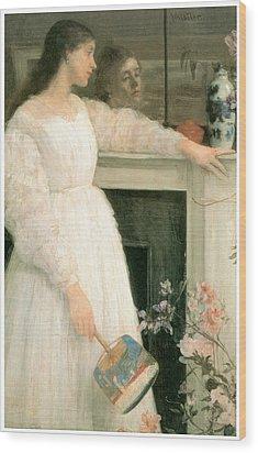 The Little White Girl Wood Print by James Abbott McNeill Whistler