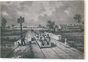 The Liverpool Manchester Railway Wood Print by Everett