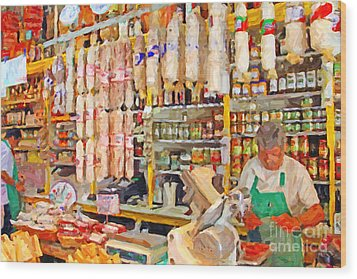 The Local Deli Wood Print by Wingsdomain Art and Photography