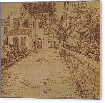 The Lodge School Wood Print