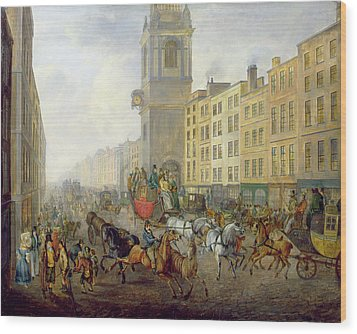 The London Bridge Coach At Cheapside Wood Print by William de Long Turner