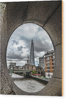 The London Shard Wood Print by Dawn OConnor