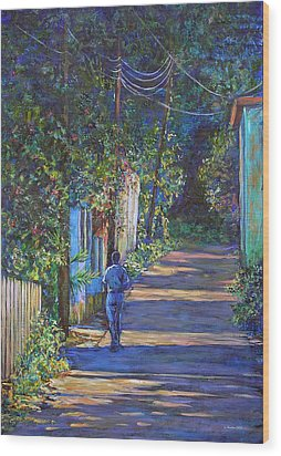 The Lonely Road Wood Print by Li Newton