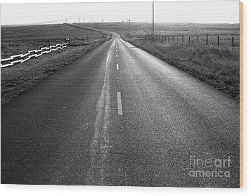 The Long Road Home . 7d9903 . Black And White Wood Print by Wingsdomain Art and Photography