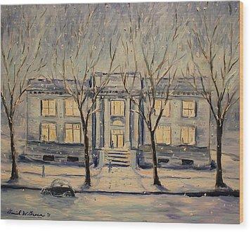 The Long Winter Wood Print by Daniel W Green