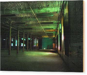 The Loray Firestone Mill  Wood Print by Tammy Cantrell