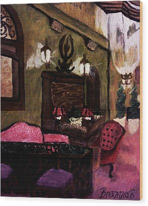 Wood Print featuring the painting The Lounge by Christy Saunders Church