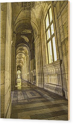 The Louvre Hall Of Shadows Wood Print