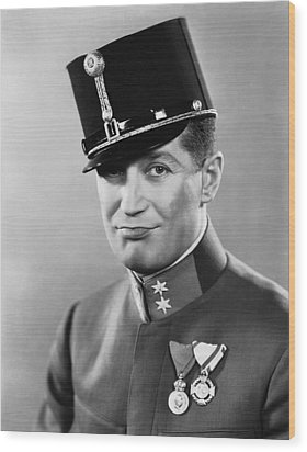 The Love Parade, Maurice Chevalier, 1929 Wood Print by Everett
