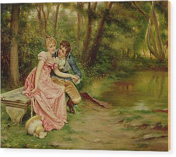 The Lovers Wood Print by Joseph Frederick Charles Soulacroix