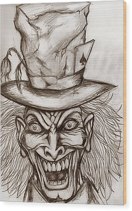 The Mad Hatter Wood Print by Michael Mestas