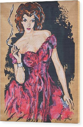 The Madame Wood Print by JW DeBrock