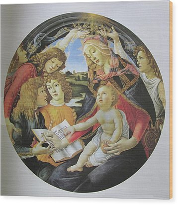 The Madonna Of The Magnificent Wood Print by Carl Purcell