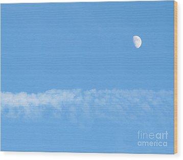 The Magic Of The Moon Wood Print by Valia Bradshaw
