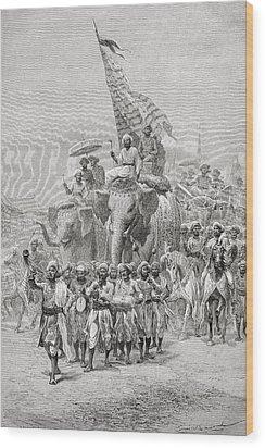 The Maharaja Of Baroda, India Riding An Wood Print by Ken Welsh