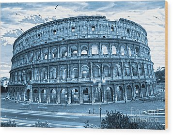 Wood Print featuring the photograph The Majestic Coliseum by Luciano Mortula