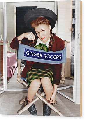 The Major And The Minor, Ginger Rogers Wood Print by Everett