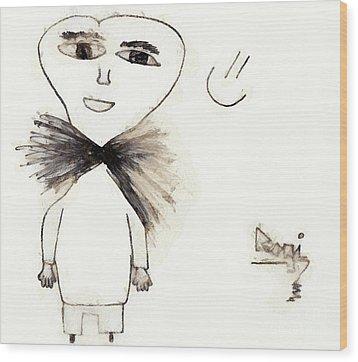 The Man Wood Print by Odon Czintos