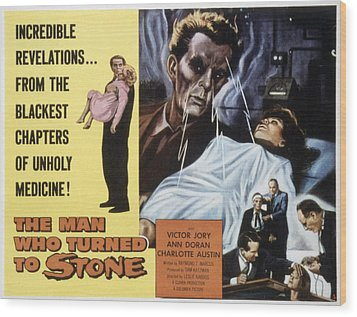 The Man Who Turned To Stone, Victor Wood Print by Everett