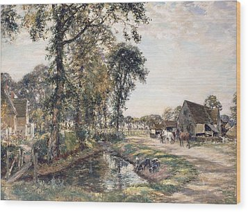 The Manor Farm Wood Print by Mark Fisher