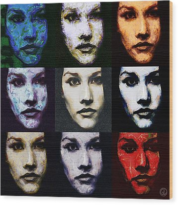 The Many Faces Of Eve Wood Print by Gun Legler