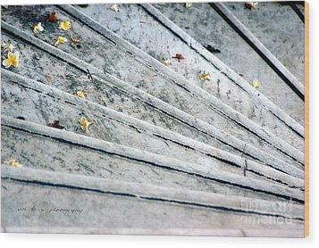 Wood Print featuring the photograph The Marble Steps Of Life by Vicki Ferrari