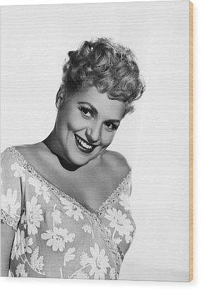 The Marrying Kind, Judy Holliday, 1952 Wood Print by Everett