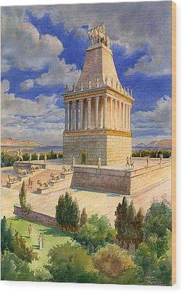 The Mausoleum At Halicarnassus Wood Print by English School