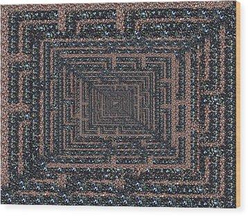 The Maze Wood Print by Tim Allen