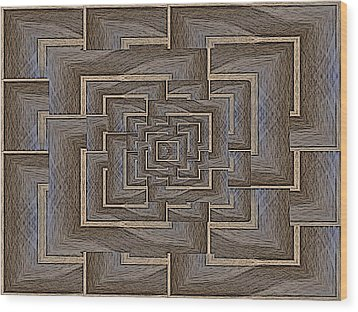 The Maze Within Wood Print by Tim Allen