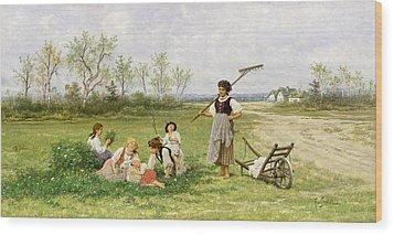 The Midday Rest Wood Print by Franciszek Streitt