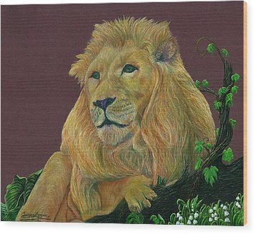 The Mighty King Wood Print by Jyvonne Inman